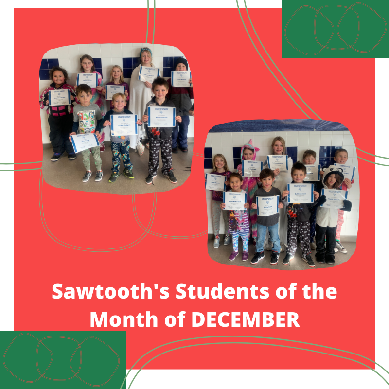 PK - 5th grade students of the month